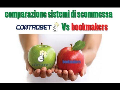 comparazione sistemi scommesse sportive. controbet vs bookmakers