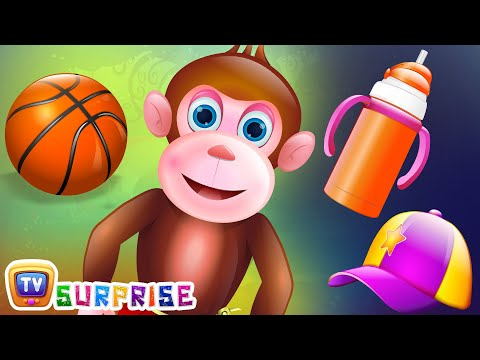 Surprise Eggs Nursery Rhymes Toys | Five Little Monkeys | Learn Colours & Objects | ChuChu TV