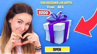 GIFTING Fortnite Skins to GIRLFRIEND!