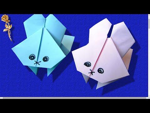 origami lapin sauteur tr s amusant youtube. Black Bedroom Furniture Sets. Home Design Ideas