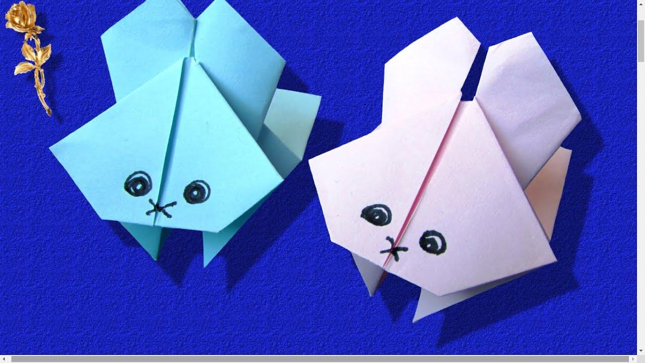 Origami Lapin Sauteur Tres Amusant Youtube