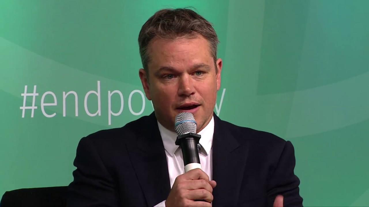 Matt Damon sur le défi de l'accès à l'eau