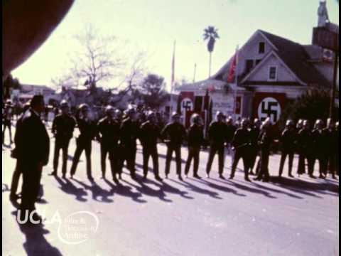 """KTLA News: """"Arrests at Nazi meeting in El Monte"""" (1972)"""