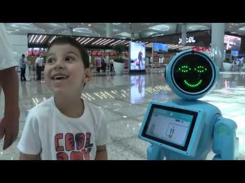 DHA: Robot Mini ADA İstanbul Havaalanında Görevde