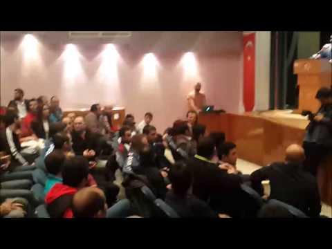 Milli güreşçi Rıza Kayaalp ODTÜ'de protesto edildi
