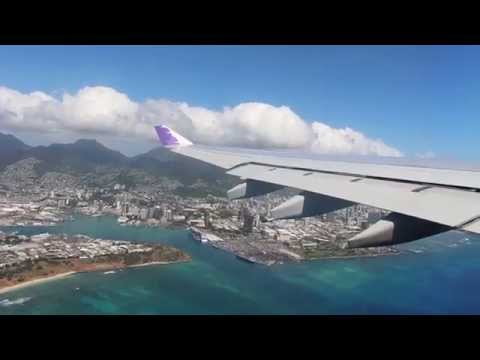 Hawaiian Airbus A330-200 Takeoff in Honolulu