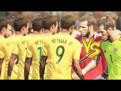 Team Neymar VS Team Bale - PES 2018 Experiment