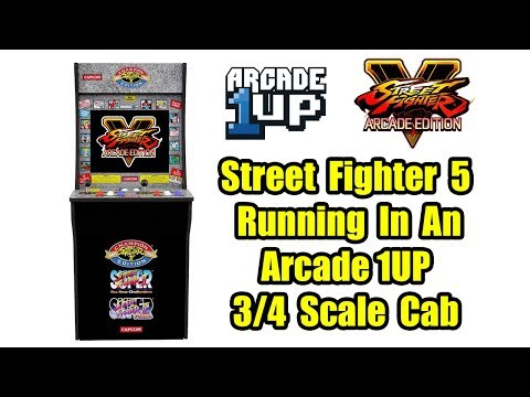 Arcade1Up Cabinet Running Street Fighter 5 And BigBox