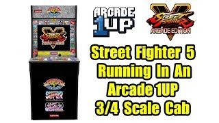 Arcade1Up Cabinet Running Street Fighter 5 And BigBox