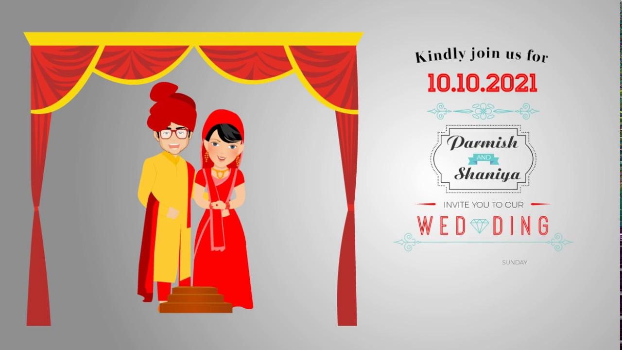 Custom Wedding Invitation Video   Save the Date (VG-708) - YouTube