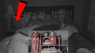 I FILMED myself sleeping in a Haunted House and this happened..