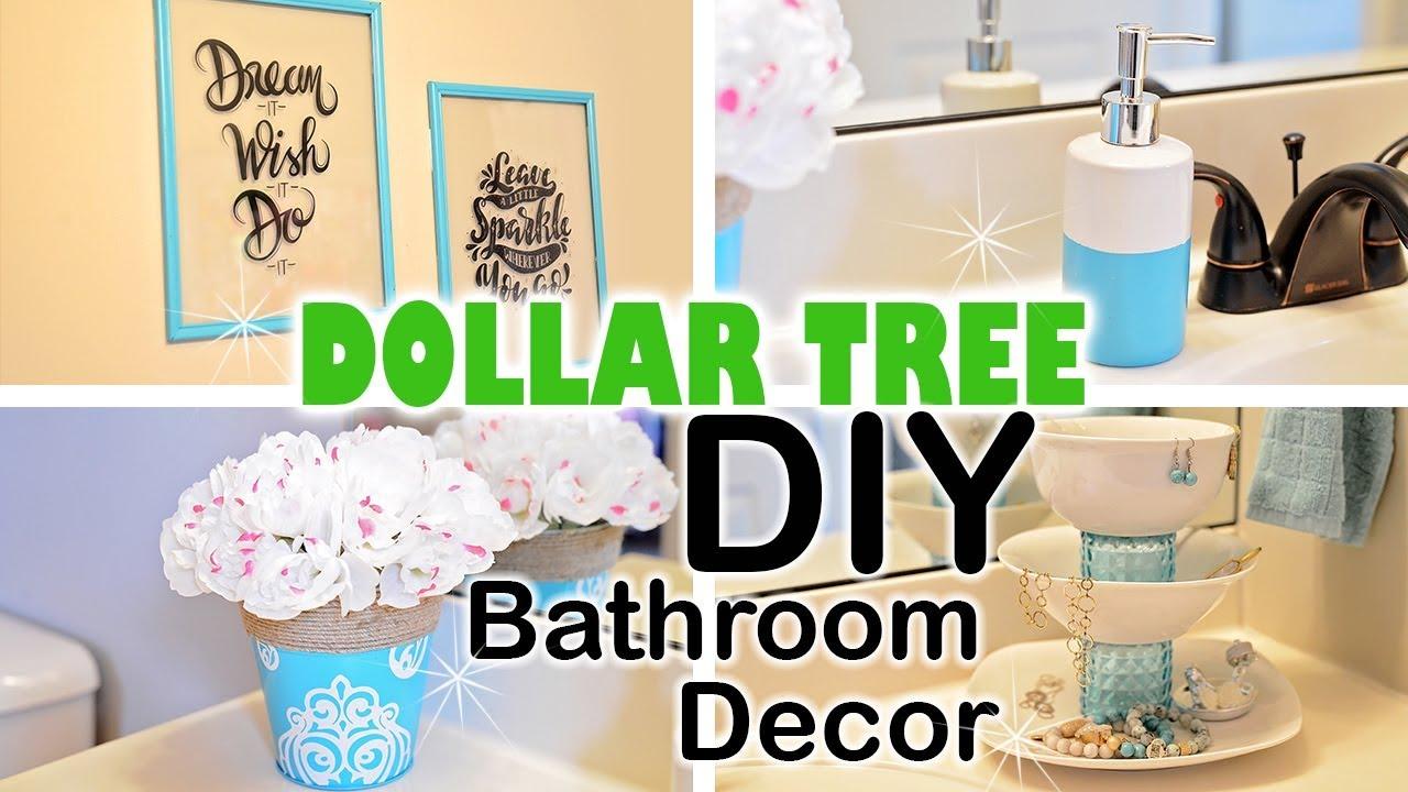 diy wonderful bathroom decor   DOLLAR TREE DIY Spring Bathroom Decor - YouTube