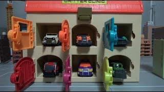 공룡메카드 캡쳐카 6단 차고지 장난감 놀이 Dino Mecard Capture Car 6 Garage Toys
