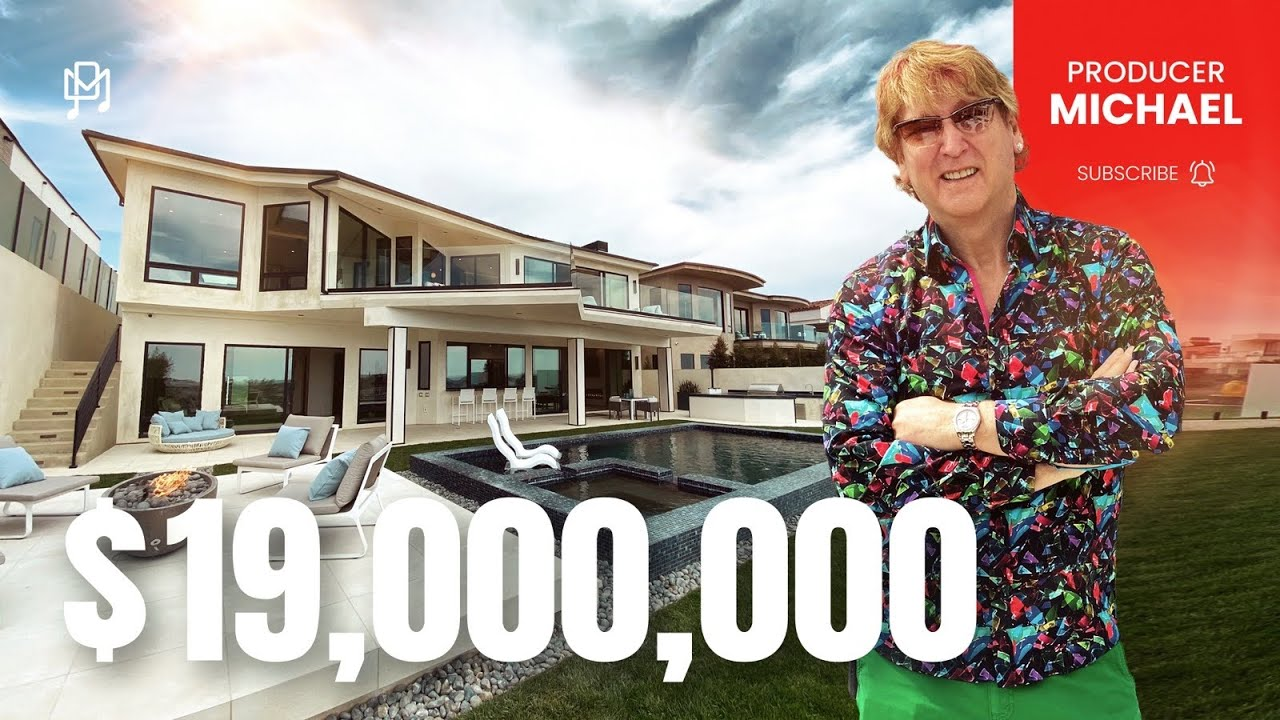TOURING A $19,000,000 O.C.MODERN MANSION WITH INCREDIBLE OCEAN VIEWS!!