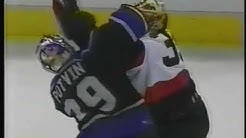 Chris Neil vs Mikko Eloranta ; Felix Potvin vs Jani Hurme & Brawl