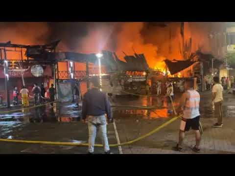 Grave incendio en Puyo, ayer