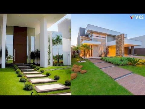 Modern Front Yard Landscaping Design Ideas | Front Porch Outdoor Garden Design | Walkway Design