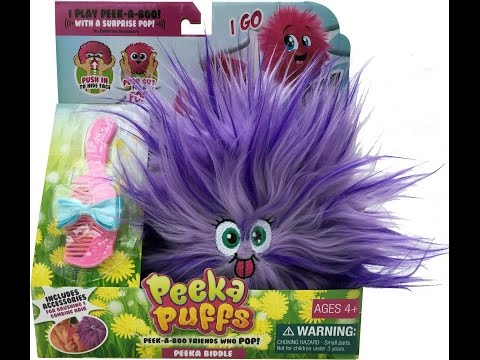 Peeka Puffs Peek  A Boo Fuzzy Cuddly Toy That Goes Pop
