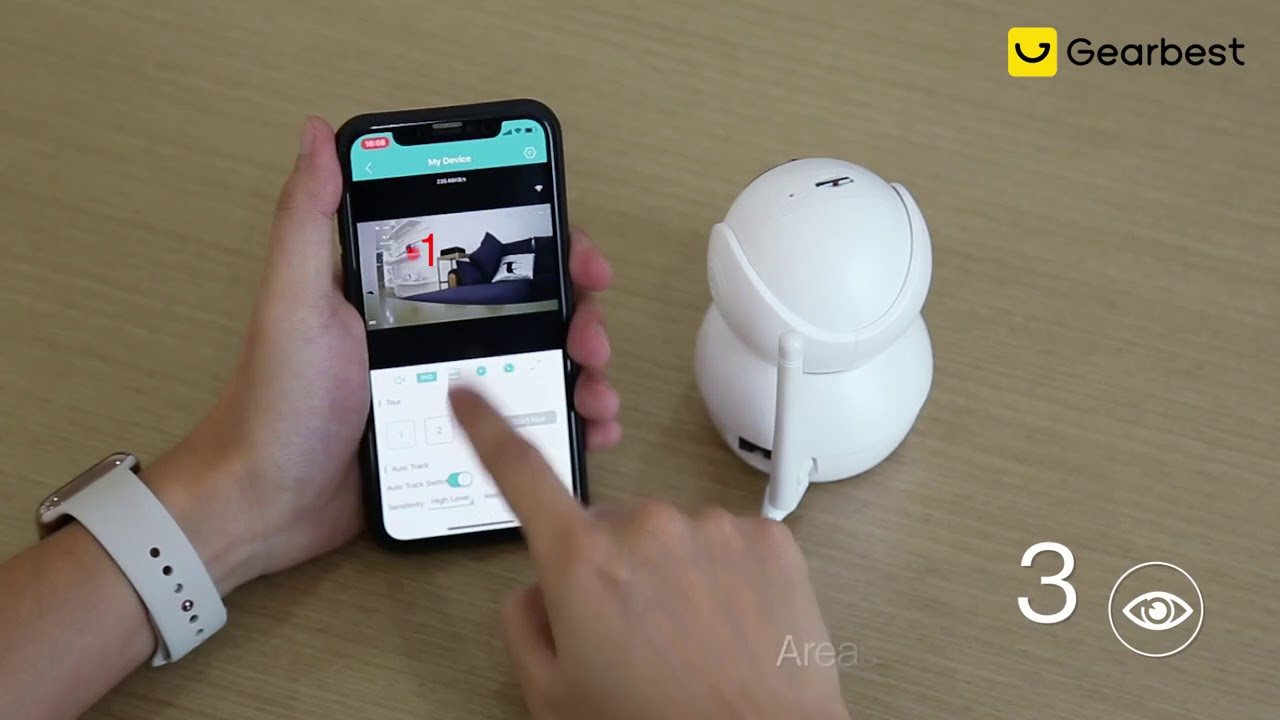 Alfawise N816 AI IP Camera - Gearbest