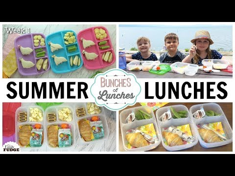 Fun Summer Lunch Ideas | Bunches Of Lunches & WHERE We Ate☀️