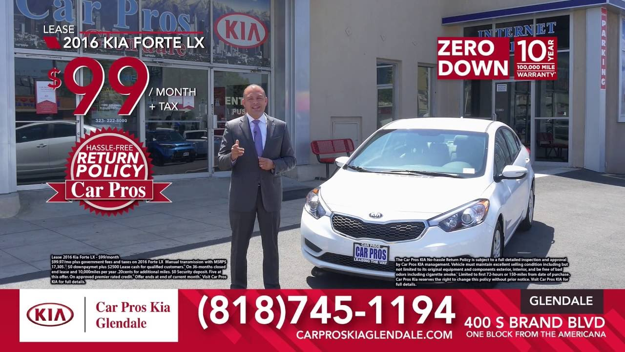 2016 Forte 99 Month 0 Down Car Pros Kia Glendale Youtube
