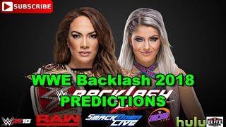 WWE Backlash 2018 Raw Women's Championship Nia Jax vs  Alexa Bliss Predictions WWE 2K18