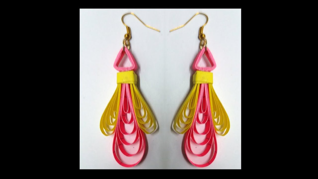 New Model Quilling Earring Making by easy method - quilling papers ...