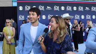 Morgan Evans ACM Red Carpet 2019