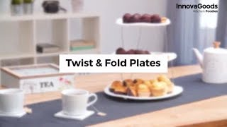 InnovaGoods Kitchen Foodies Twist & Fold Plates