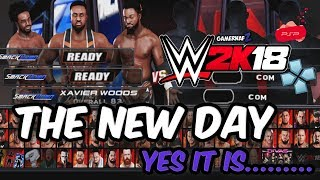 WWE 2K18 PSP, Android/PPSSPP - The New Day Preview