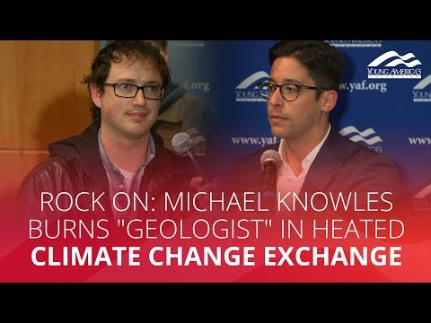 "ROCK ON: Michael Knowles  burns ""geologist"" in heated climate change exchange"