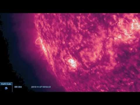 5MIN News November 27, 2013: ISON on SOHO, Big Sunspots Cresting Now