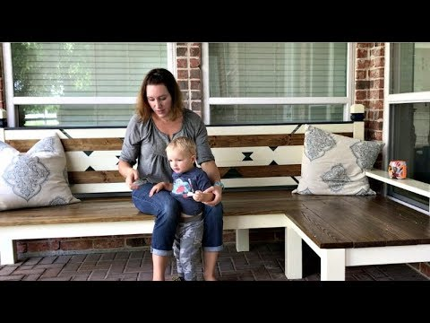 how to build a large l shaped outdoor bench youtube. Black Bedroom Furniture Sets. Home Design Ideas