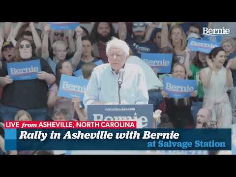 Bernie 2020 Rally In Asheville, North Carolina