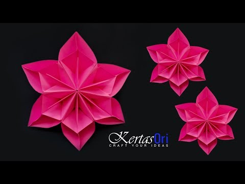 DIY - Beautiful Paper Flower For Decoration | Paper Craft | Home Decoration