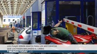 Los peajes serán gratis para los motoristas que los pasen bailando el limbo | El Mundo Today 24H