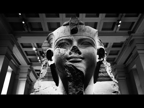 A tour of the British Museum in black and white