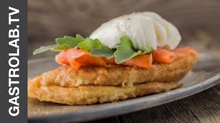 French Toast With Smoked Salmon And Poached Egg    Gastrolab Quick & Easy Recipe