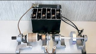 Repeat youtube video DC rotors rotation movement on ball bearings.