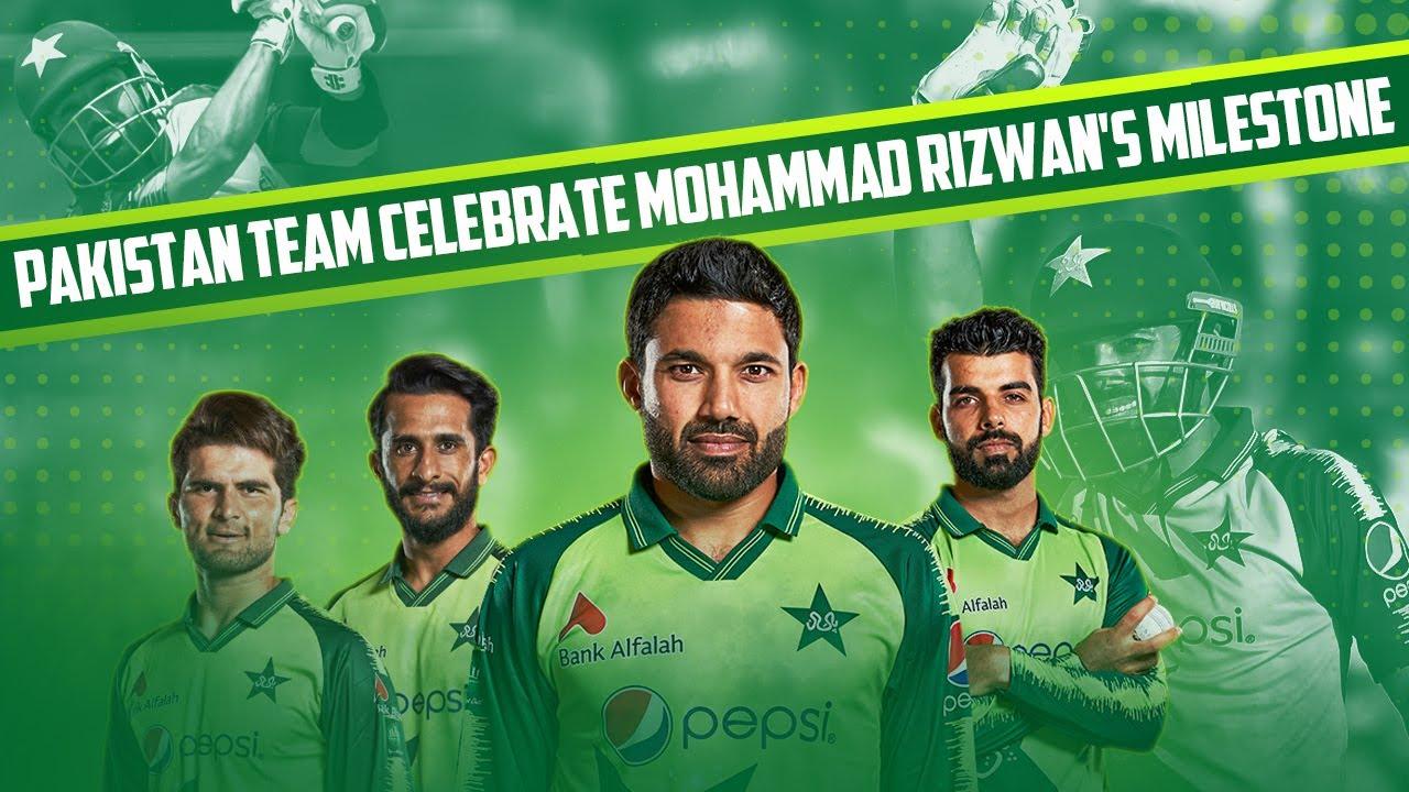Pakistan Team Celebrate Mohammad Rizwan's Milestone - Most T20I Runs In A Calendar Year
