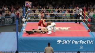 WWE2K17 FMW. MIKE AWESOME VS HAYABUSA VS HAKUSHI