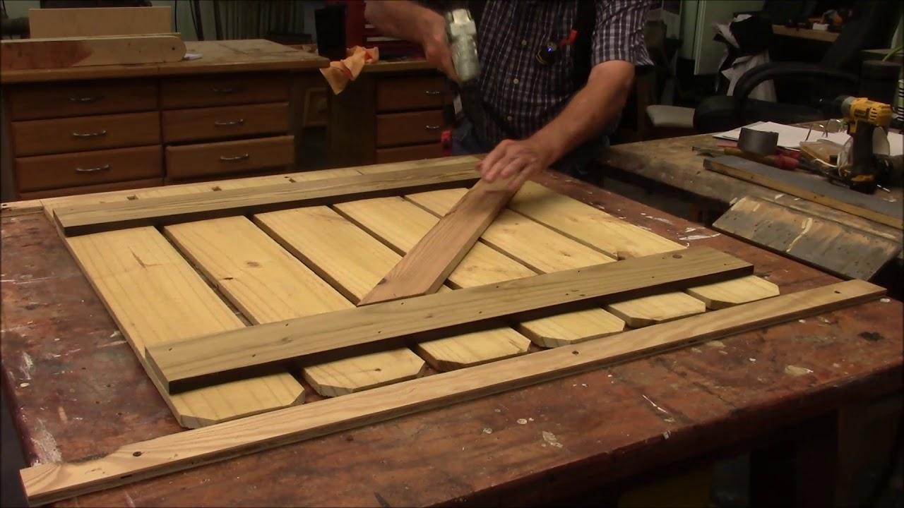 148 Building a Garden Gate - YouTube