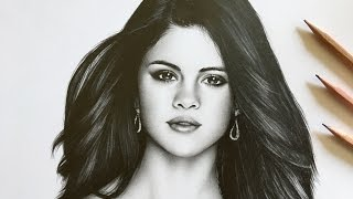 This is a realistic graphite drawing of selena gomez! sorry, i had to re-upload because it was not working on some devices due copyright reasons, so cha...