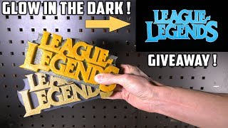 Casting 2 Glowing League Of Legends Logo's with Epoxy Resin