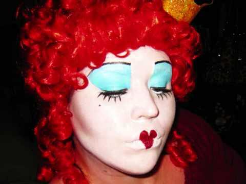 Tim Burton's Alice in Wonderland: Red Queen Make-up ...  Tim Burton'...
