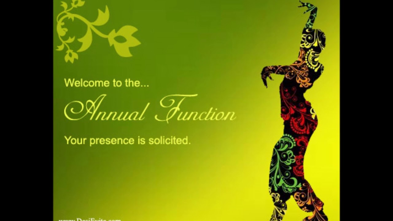 Annual Function Invitation E Card 2017