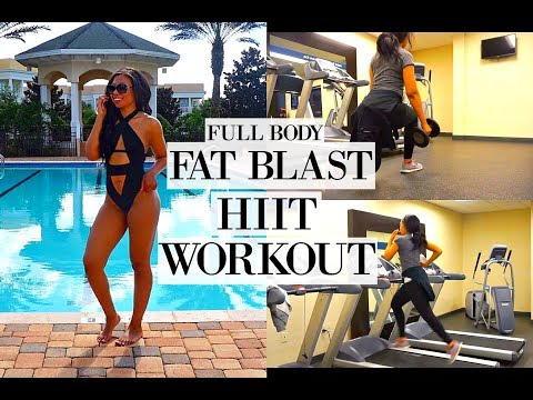 FAT BURNING HIIT WORKOUT | FULL BODY VACATION WORKOUT ROUTINE TO LOSE WEIGHT