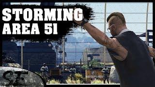 Storming Area 51 in Grand Theft Auto 5 GTAV funny skit