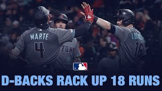 D-backs tally 18 runs