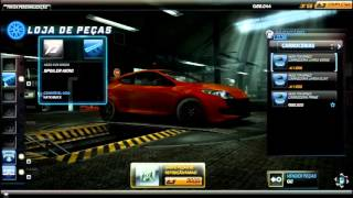 Need For Speed World - Renault megane RS -  Corrida Teste